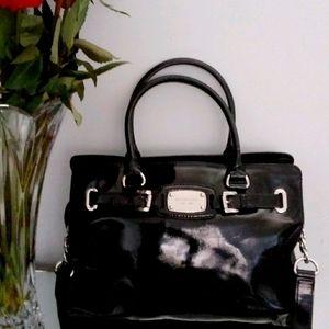 Michael Kors Genuine Patent Leather Handbag Black